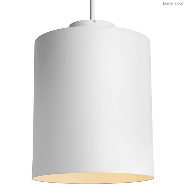 Perdomo 1-Light  LED Cylinder Pendant Finish: Matte White