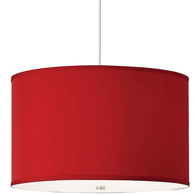 Gorgias 4-Light Pendant Finish: Satin Nickel, Shade Color: Red