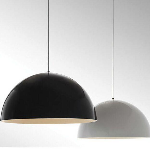 Hillside 1-Light Pendant Finish: Black, Shade Color: Gloss White/White