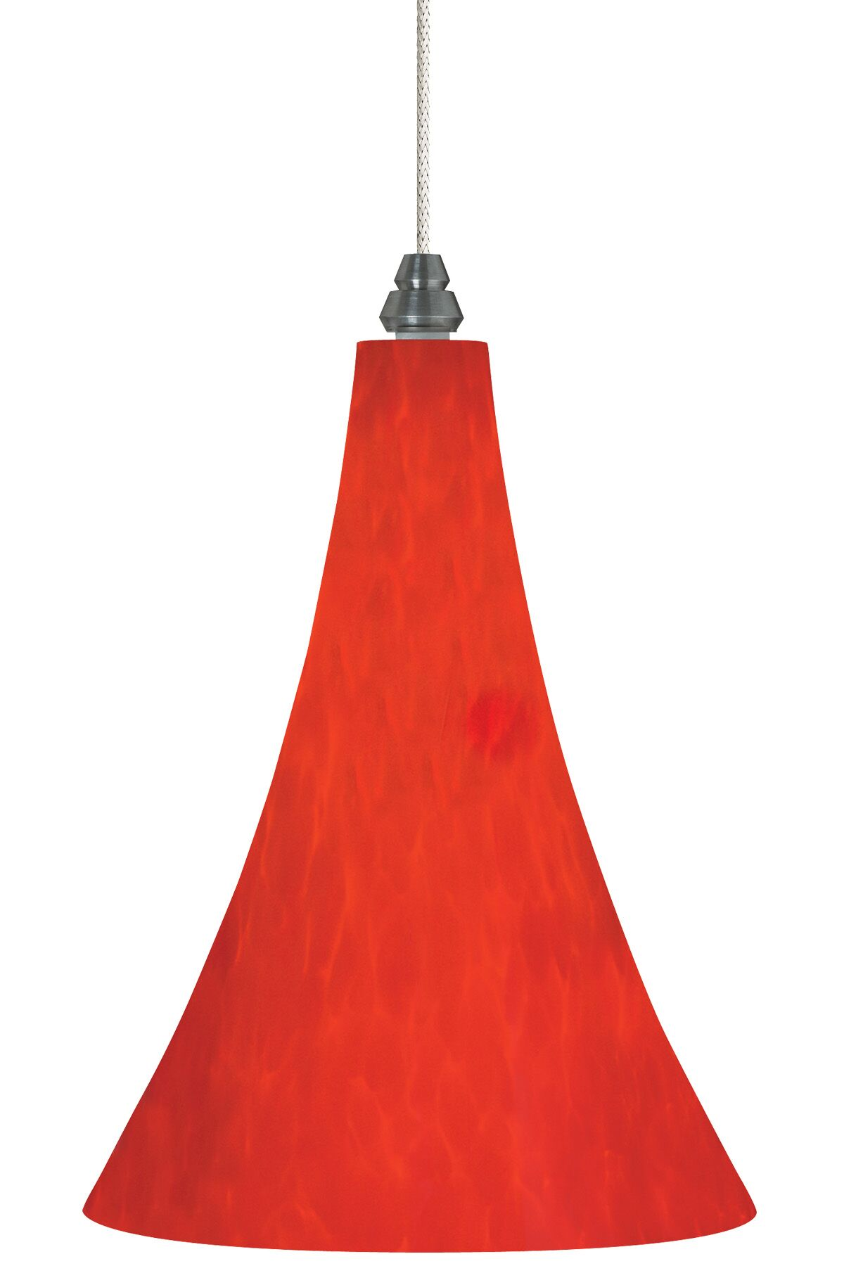 Melrose 1-Light Cone Pendant Bulb Type: Halogen, Finish: Antique Bronze, Shade Color: Red