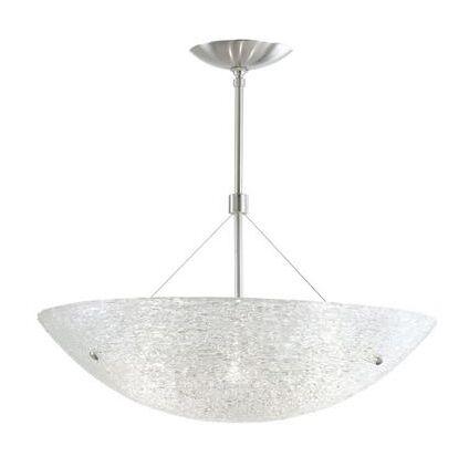 Trace 4-Light Bowl Pendant Size: 16