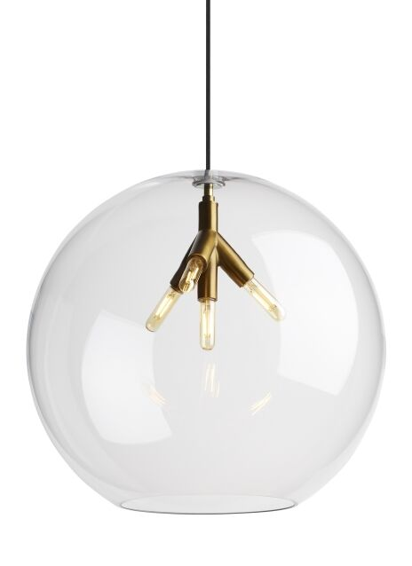 Darden 1-Light Globe Pendant Finish: Aged Brass, Shade Color: Clear, Bulb Type: No Bulb