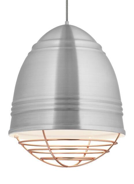 Alonso 1-Light Novelty Pendant Finish: Brushed Aluminum, Shade Color: Copper, Bulb Type: No Bulb