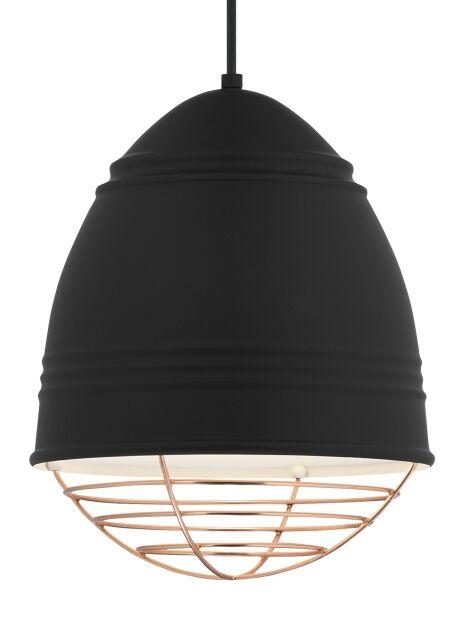 Rider 1-Light Novelty Pendant Shade Color: Copper, Bulb Type: No Bulb, Finish: Rubberized Black/White Interior