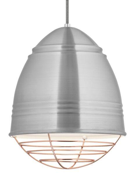 Rider 1-Light Novelty Pendant Finish: Brushed Aluminum, Shade Color: Copper, Bulb Type: No Bulb