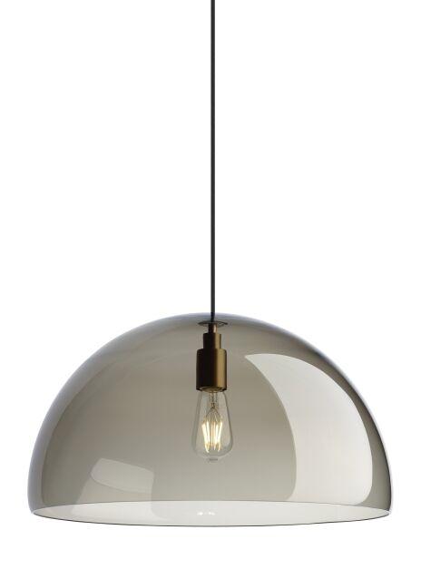 Darby 1-Light Dome Pendant Bulb Type: No Bulb, Finish: Satin Nickel, Shade Color: Transparent Smoke