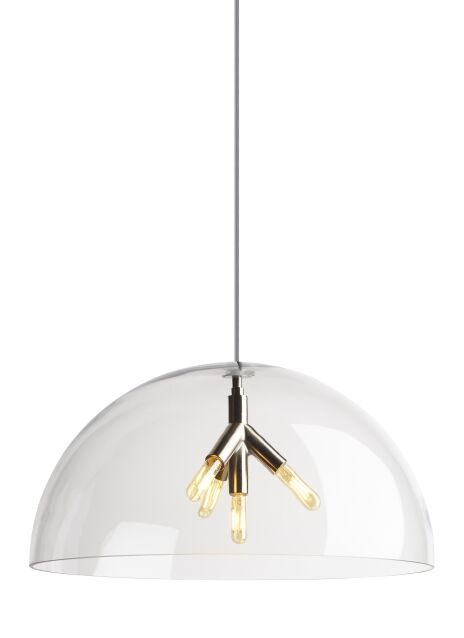 Darby 4-Light Dome Pendant Finish: Aged Brass, Bulb Type: No Bulb