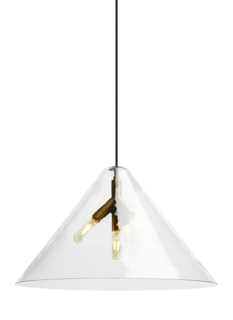 Mairead 4-Light Mini Pendant Finish: Aged Brass, Shade Color: Clear, Bulb Type: No Bulb