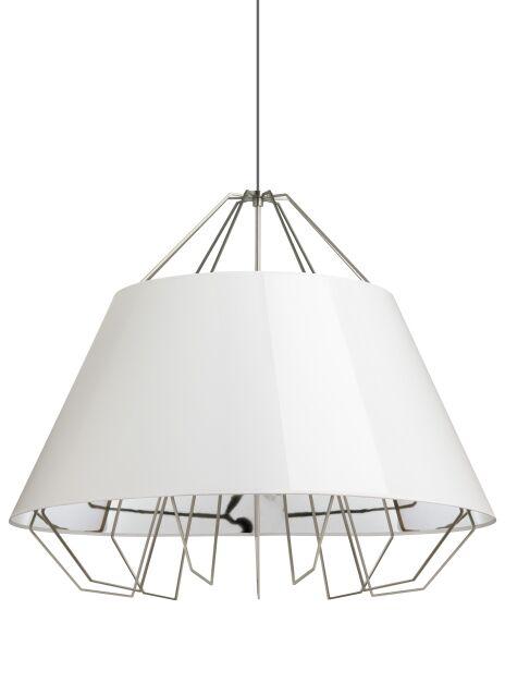 Davies 3-Light Dome Pendant Shade Color: Gloss White/Silver, Cord Color: Gray