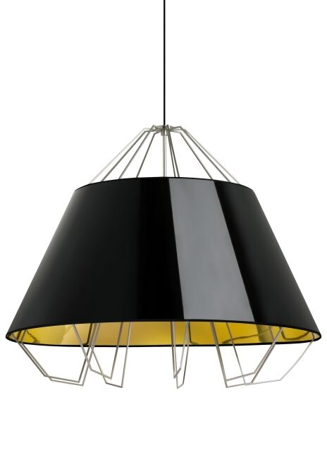 Davies 3-Light Dome Pendant Cord Color: Black, Shade Color: Gloss White/Gold