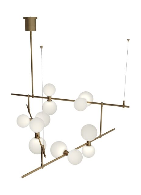 Newt 12-Light LED Novelty Chandelier Features: Surface Canopy