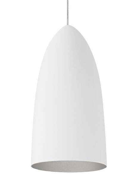 Curran 1-Light Cone Pendant Bulb Type: No Bulb, Shade Color: Rubberized White/Platinum