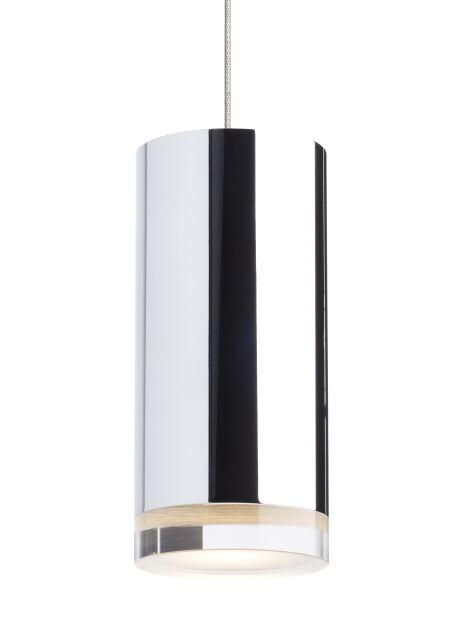 Cruz 1-Light Mini Pendant Finish: Chrome, Shade Color: Chrome, Bulb Type: No Bulb