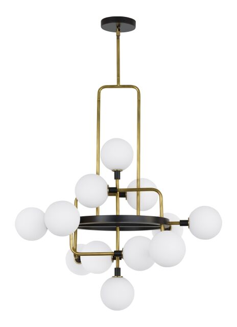 Eliseo 12-Light Novelty Chandelier Shade Color: Opal/Brass, Bulb Included: Included