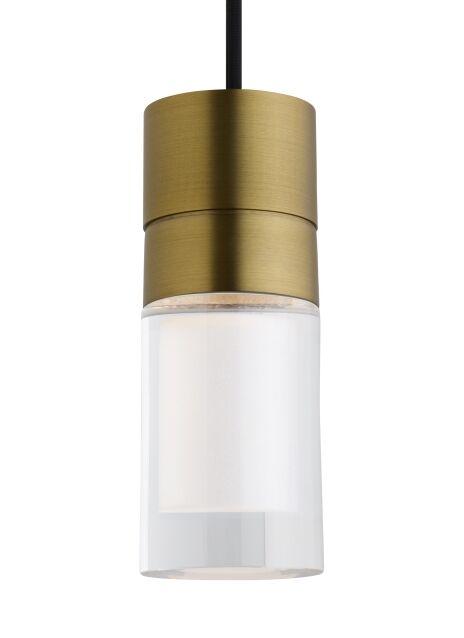 Crum 3-Light Cylinder Pendant Shade Color: Black/White, Bulb Type: Integrated LED 90 CRI 3000K 120V (T24)