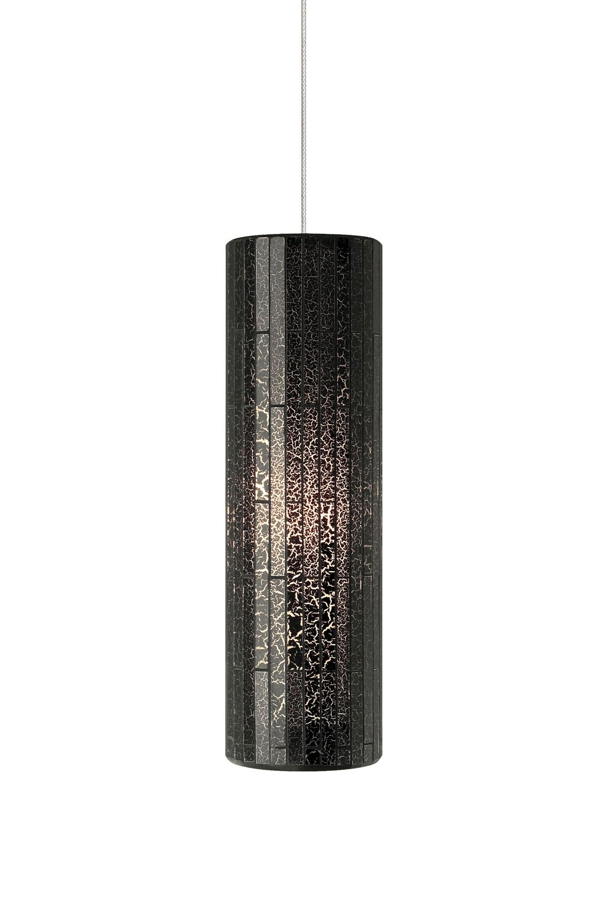 Peyton Grande 1-Light Cylinder Pendant Finish: Satin Nickel, Finish: White, Bulb Type: 1 x 60W 120V Incandescent