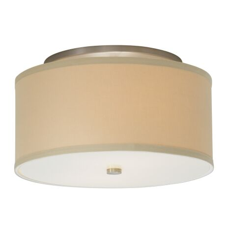 Mulberry 2-Light Flush Mount Shade Color: Desert Clay