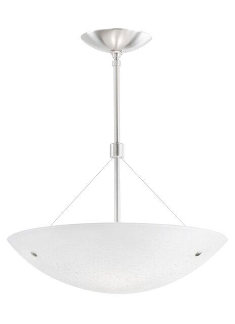 Larkspur Bowl Incandescent 2-Light Bowl Pendant Finish: Satin Nickel, Shade Color: Surf White, Size: 14