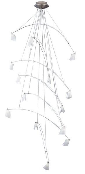 Crescendo 14-Light Novelty Chandelier Finish / Length / Diameter: Chrome/Standard/36