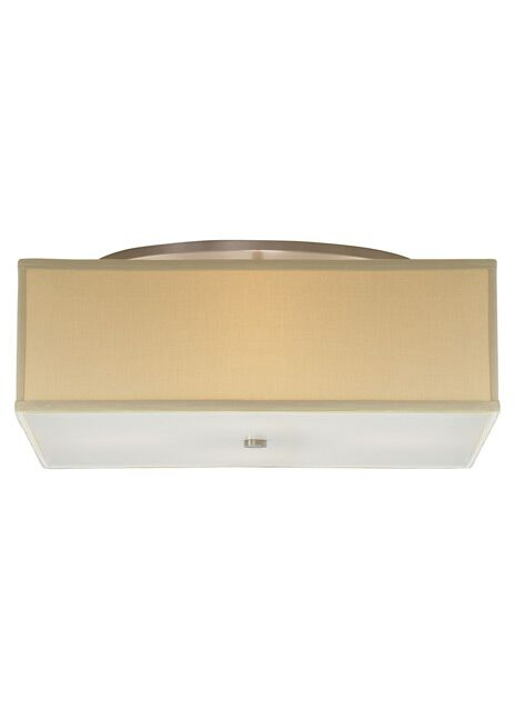 Chambers Track Semi Flush Mount Shade Color: Desert Clay, Size: Small