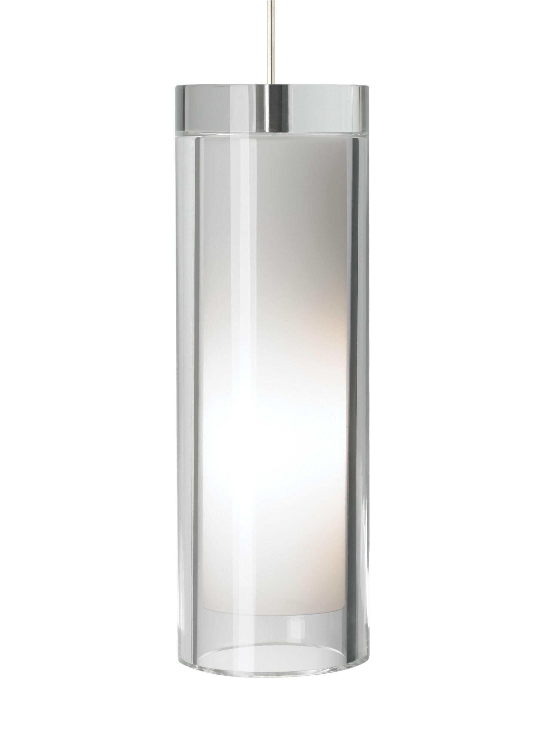 Sara Grande 1-Light Cylinder Pendant Finish: Bronze, Shade Color: Clear, Bulb Type: 1 x 32W 120V Fluorescent