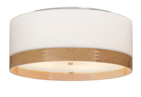 Topo 4-Light Flush Mount Color: White