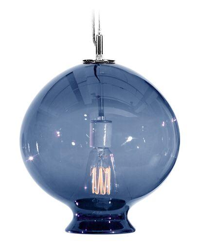 Vesuvius Juno 1-Light Globe Pendant Shade Color: Steel Blue, Finish: Nickel with Silver Nylon Wire