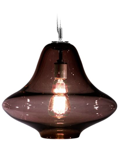 Vesuvius Venus 1-Light Geometric Pendant Shade Color: Ink, Finish: Nickel with Silver Nylon Wire