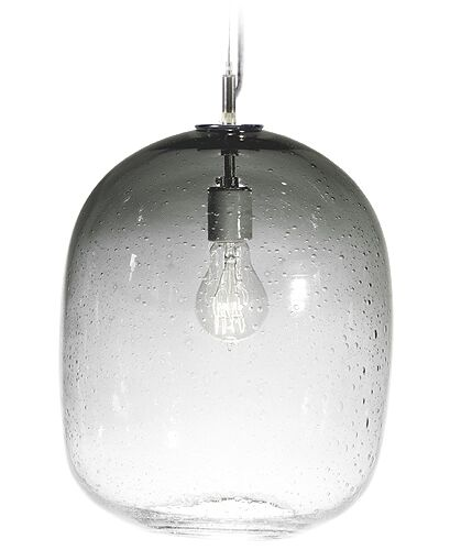 Fizz Cosmos 1-Light Drum Pendant Finish: Nickel with Silver Nylon Wire, Shade Color: Charcoal