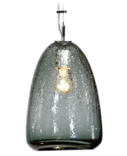 Boa Summit 1-Light Cone Pendant Shade Color: Slate, Finish: Nickel with Silver Nylon Wire