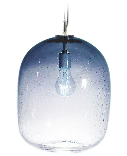 Fizz Cosmos 1-Light Drum Pendant Finish: Nickel with Silver Nylon Wire, Shade Color: Steel Blue