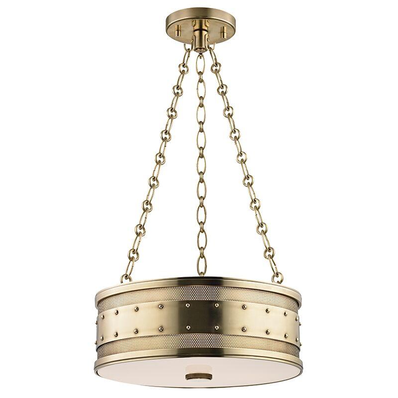 Gaines 3-Light Pendant Finish: Aged Brass