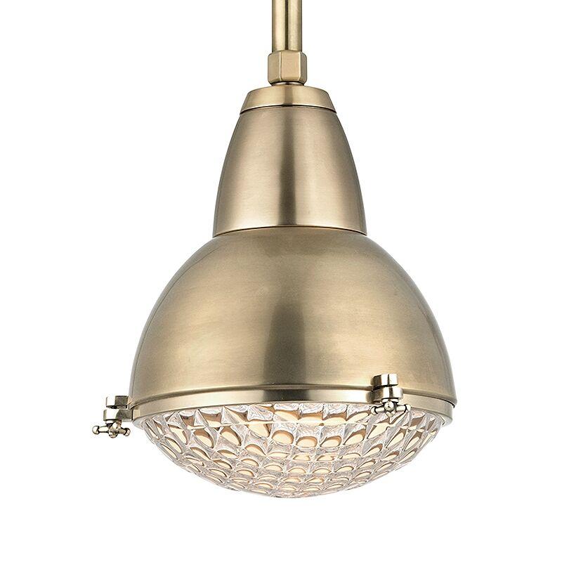 Ezequiel 1-Light Cone Pendant Finish: Aged Brass