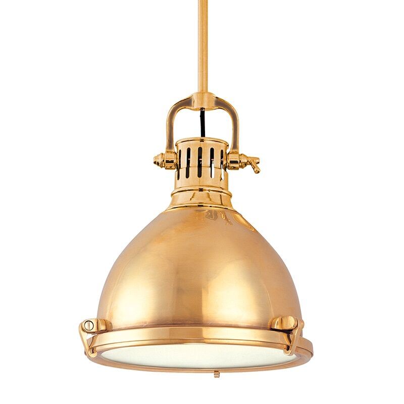Argana 1-Light Bell Pendant Finish: Aged Brass