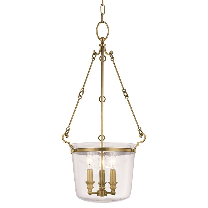 Edington 3-Light Urn Pendant Finish: Polished Nickel, Size: Large