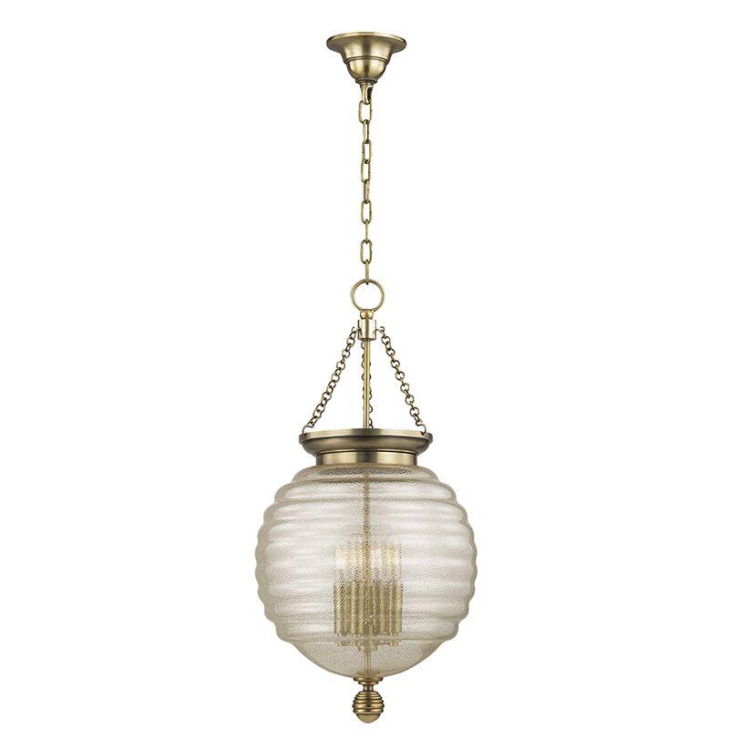 Lazo 1-Light Urn Pendant Finish: Aged Brass, Size: 27