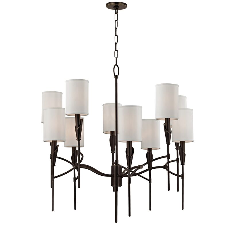 Levan 10-Light Shaded Chandelier Finish: Old Bronze