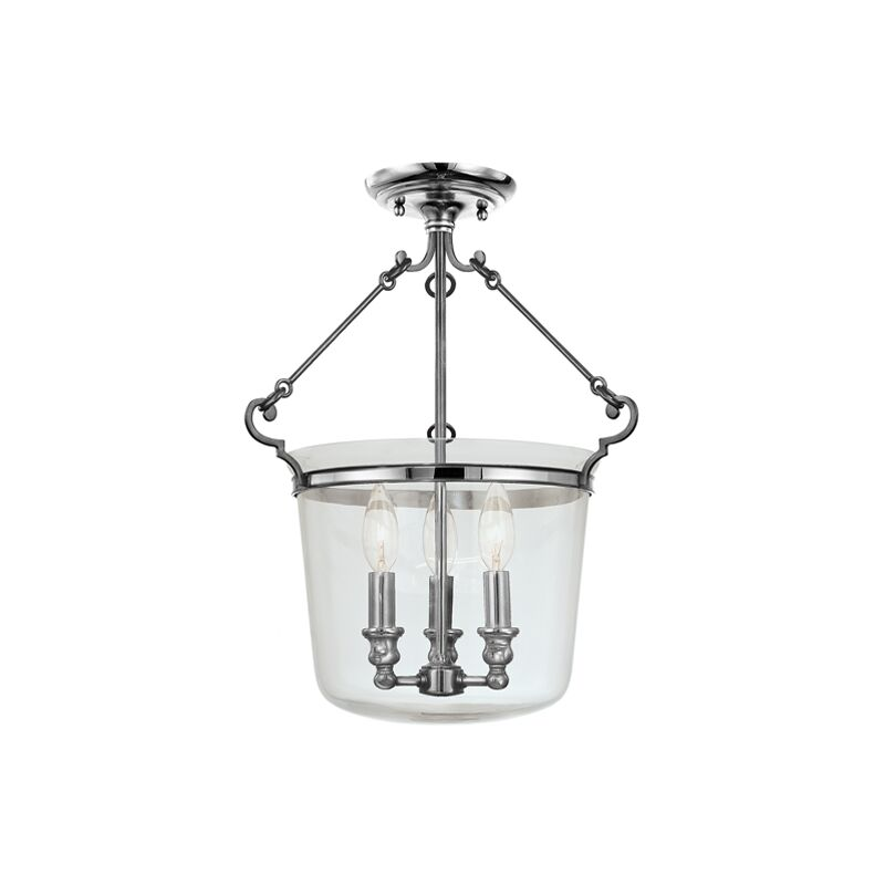 Edington 3-Light Urn Pendant Finish: Polished Nickel, Size: 21.5