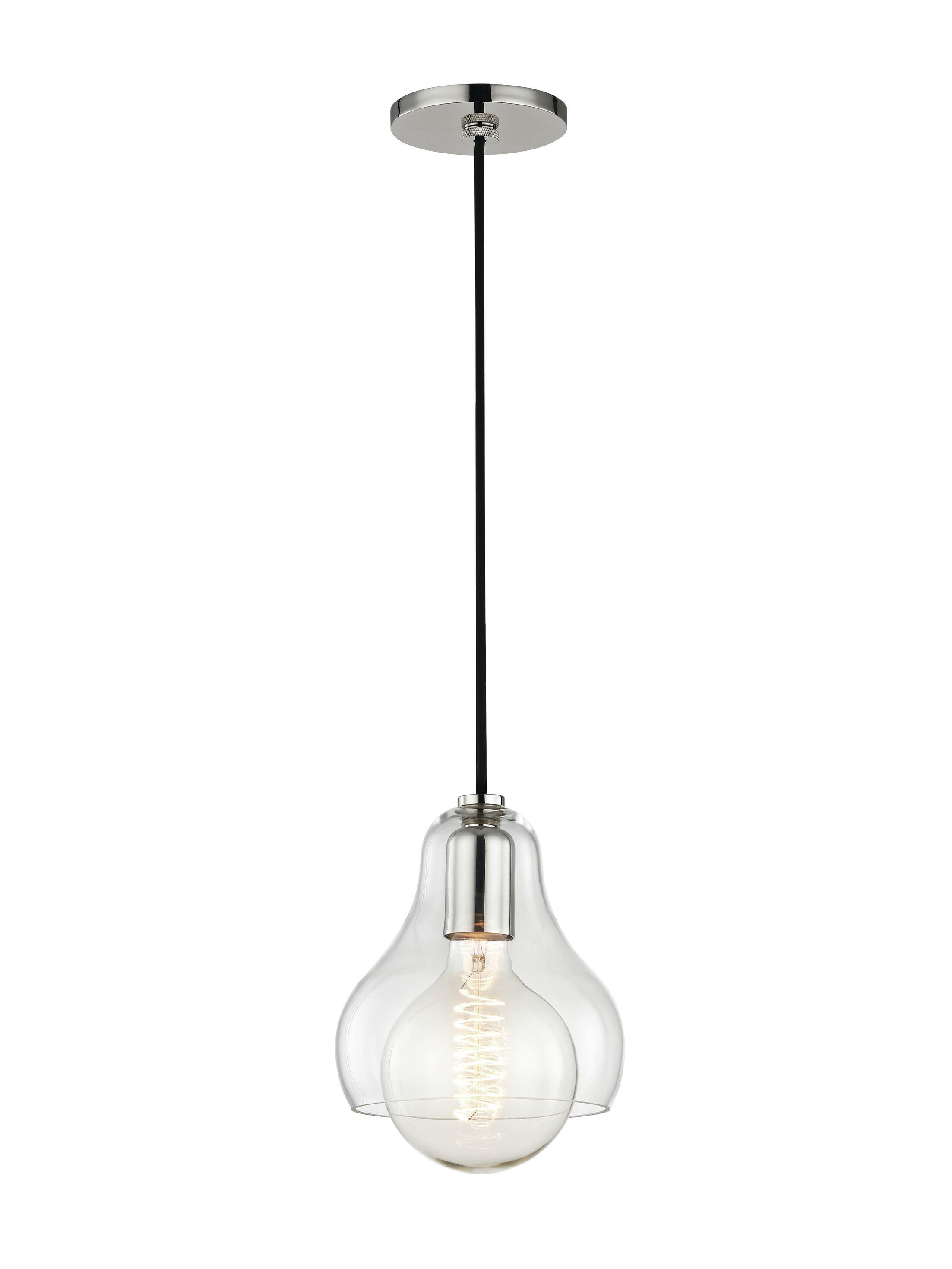 Manpreet 1-Light Bell Pendant Size: 10