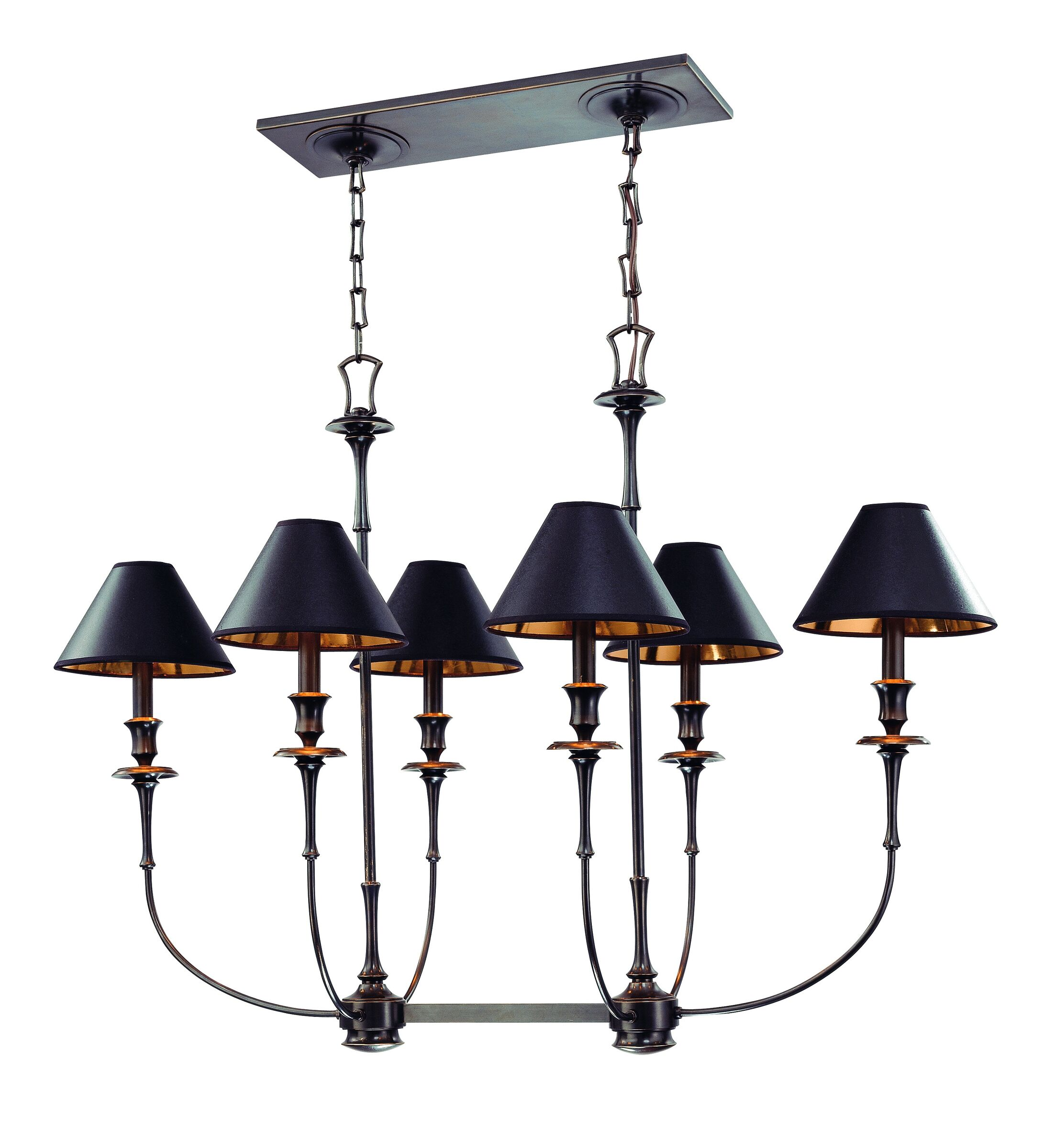 Letendre 6-Light Kitchen Island Pendant Finish: Old Bronze