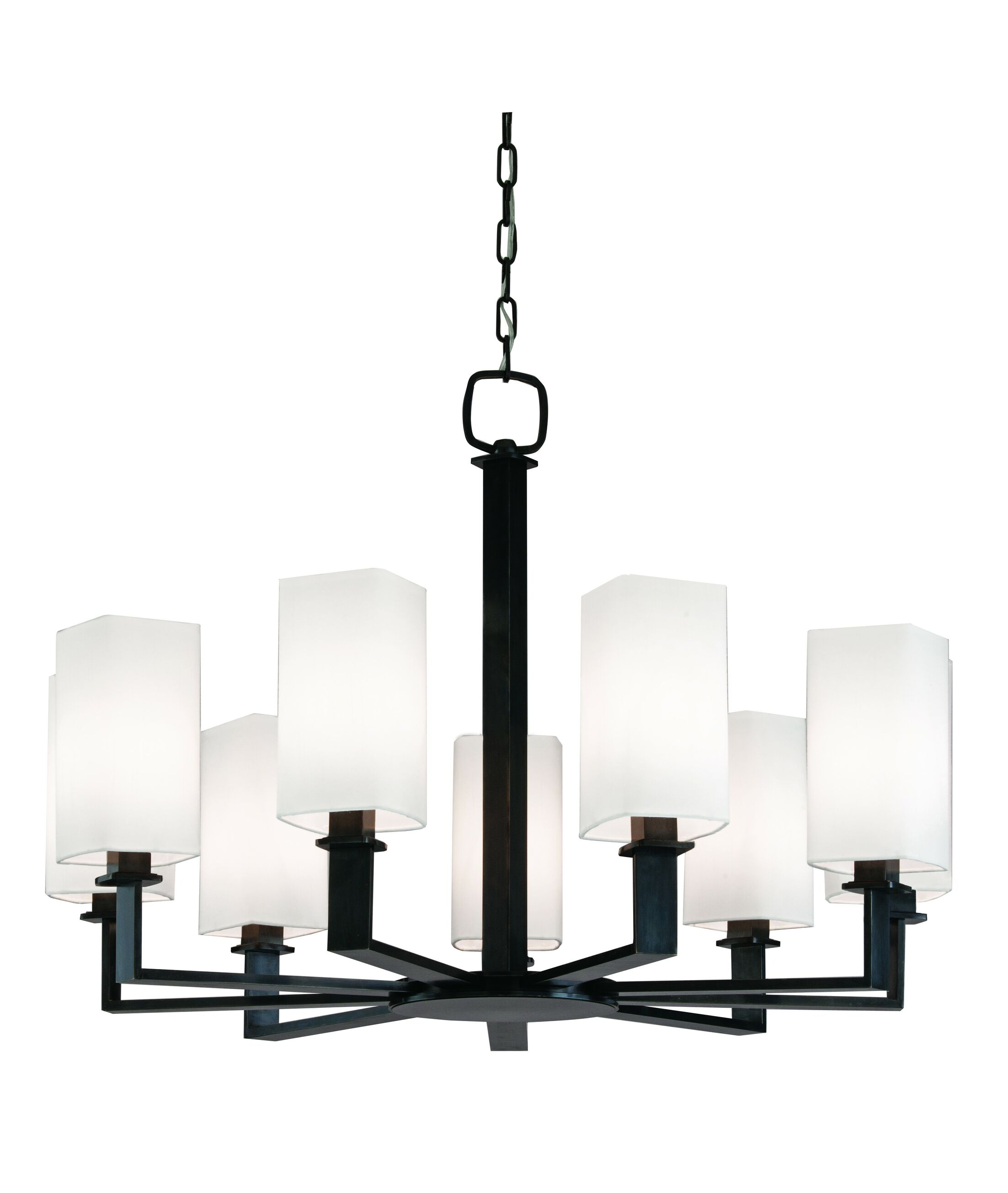 Caskey 9-Light Shaded Chandelier Finish: Polished Nickel