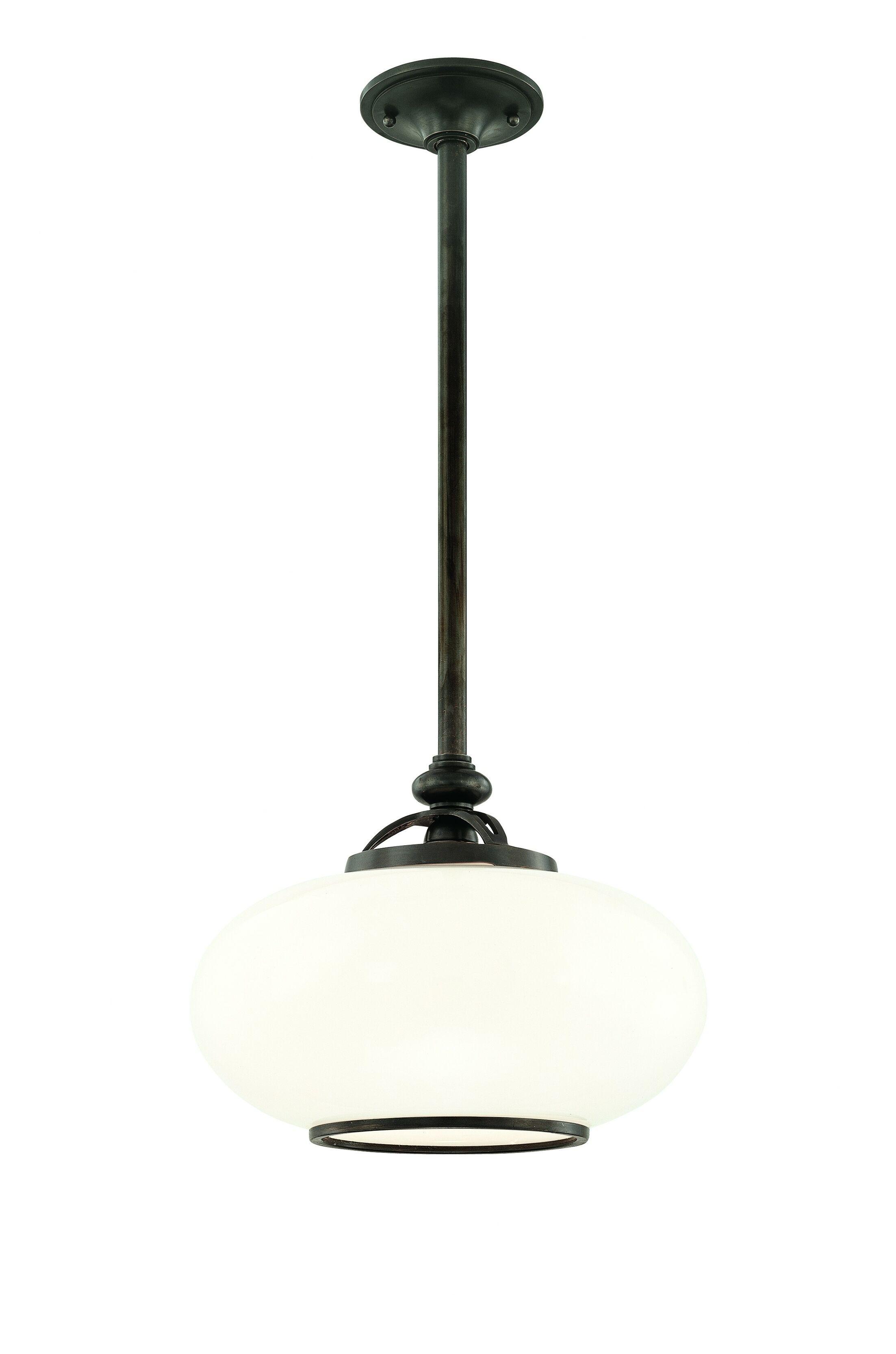 Monica 1-Light Globe Pendant Finish: Old Nickel, Size: 15