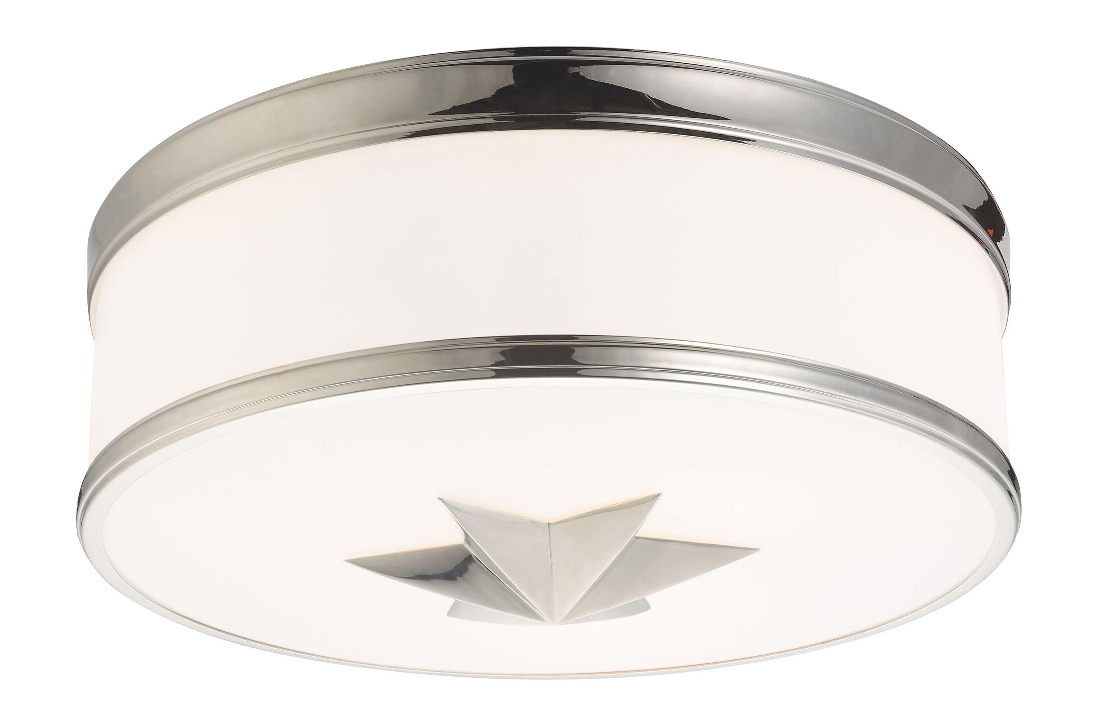 Kelsie 3-Light Flush Mount Finish: Polished Nickel