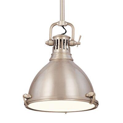 Argana 1-Light Bell Pendant Finish: Satin Nickel, Size: 8