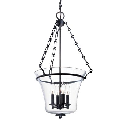 Estelle 4-Light Urn Pendant Finish: Aged Brass, Size: 28