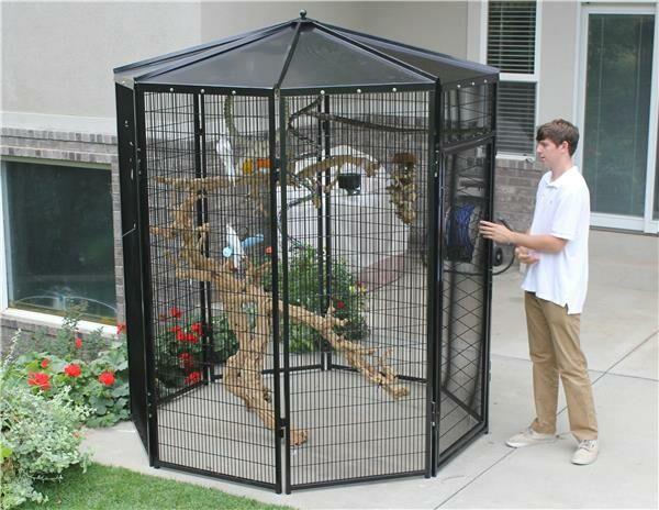 8 Sided Bird Aviary