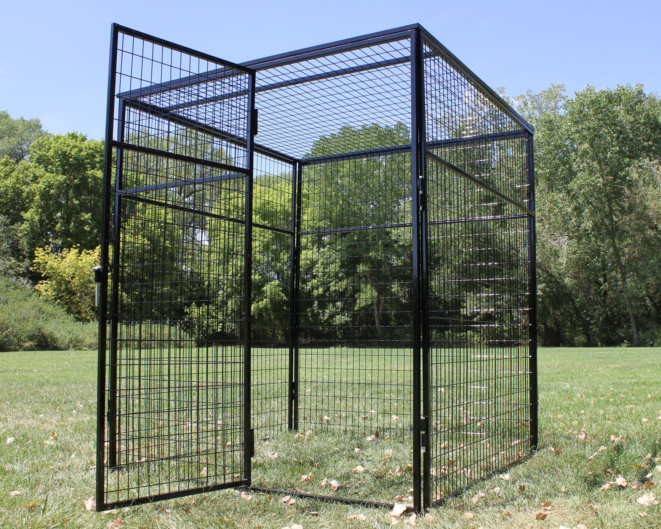 Steel Welded Wire Top Yard Kennel