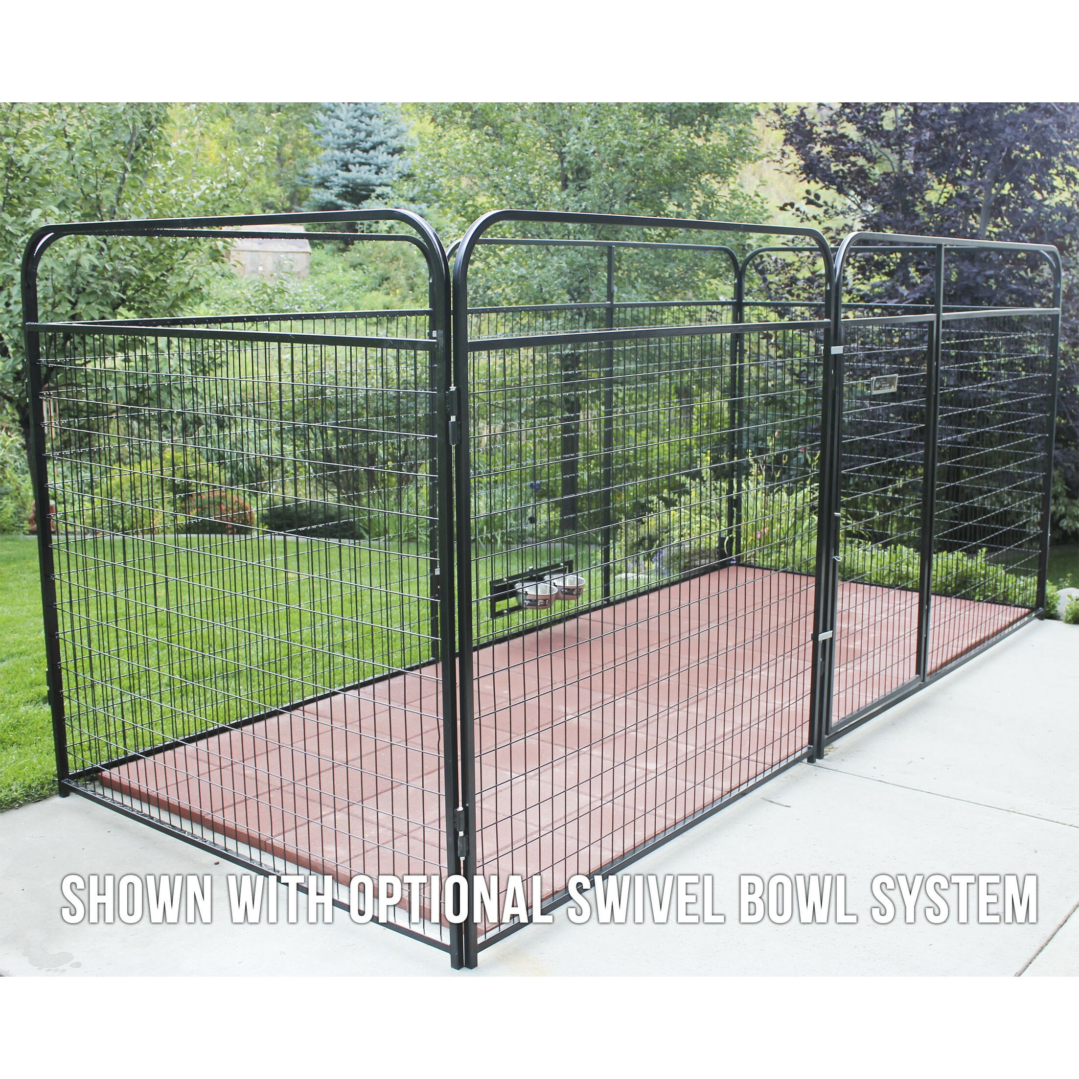 Allie Welded Wire Steel Yard Kennel Size: 72