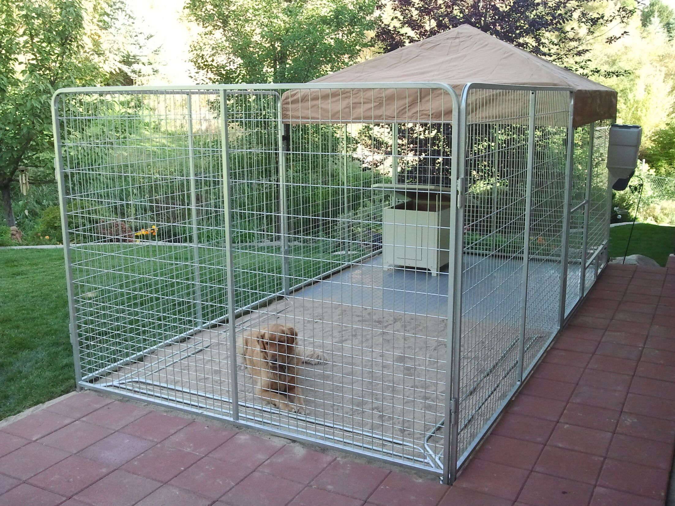 Alicia Galvanized Steel Yard Kennel Color: Camouflage, Size: 72