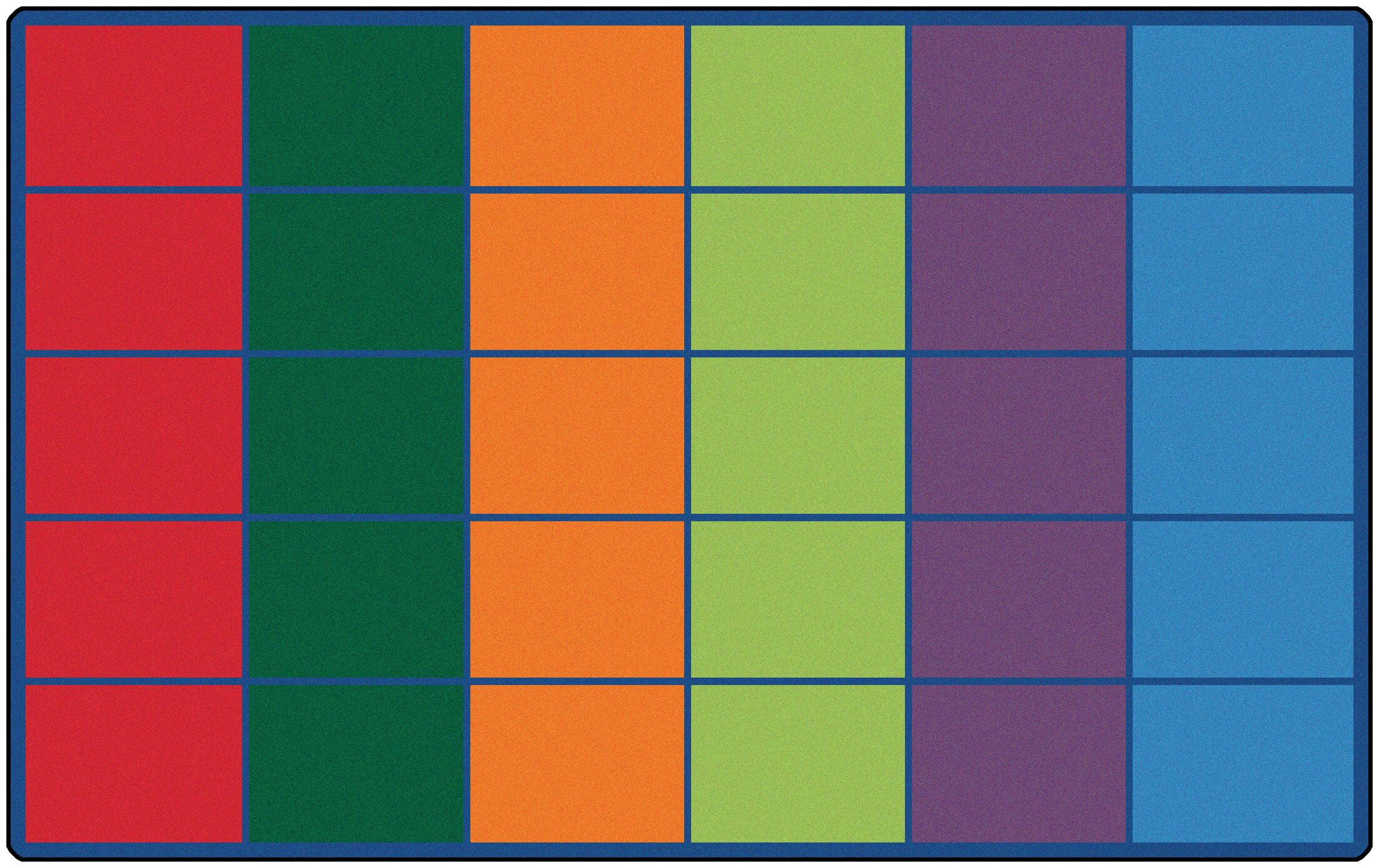 Emmanuelle Colorful Rows Seating Area Rug Number of Square Spaces: 30